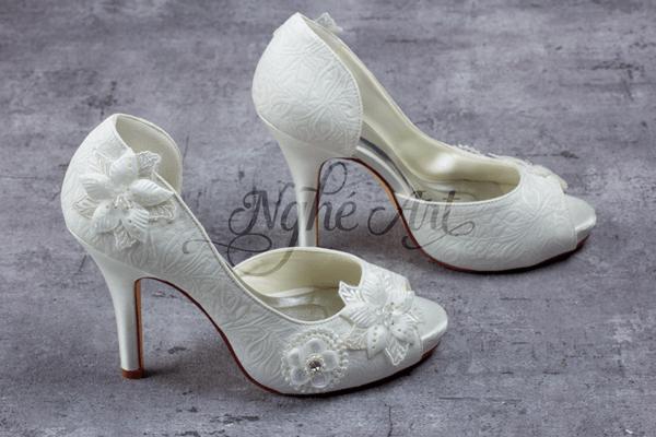 Giày cưới ren 137 - 10 phân