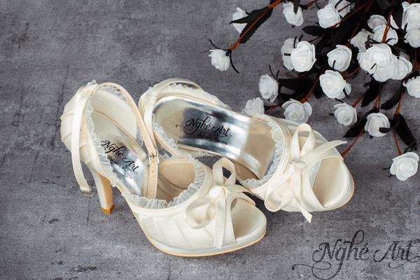 Giày cưới ren tiểu thư 138 - 11 phân