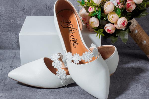 Giày cưới bệt hoa cúc 152 - giày bệt