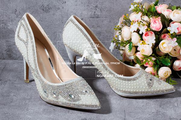 Giày cưới đính hạt 170 - 9 phân