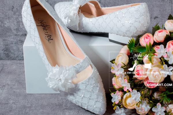Giày cưới bệt ren 187 - giày bệt