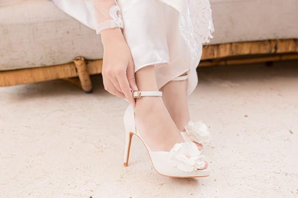 Giày cưới Nghé Art hoa 280 - 10 phân mũi đúp 1.5