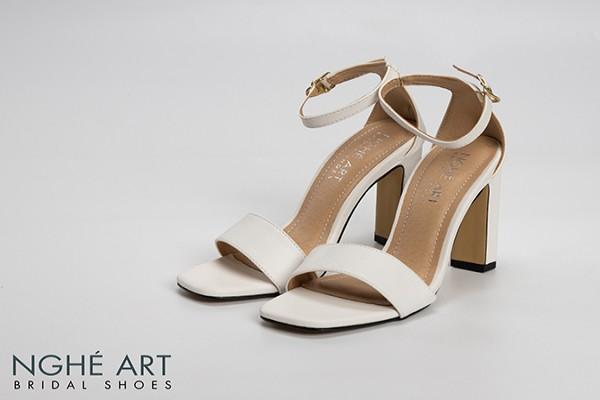 Giày cưới Nghé Art basic sandal 230 - Trắng