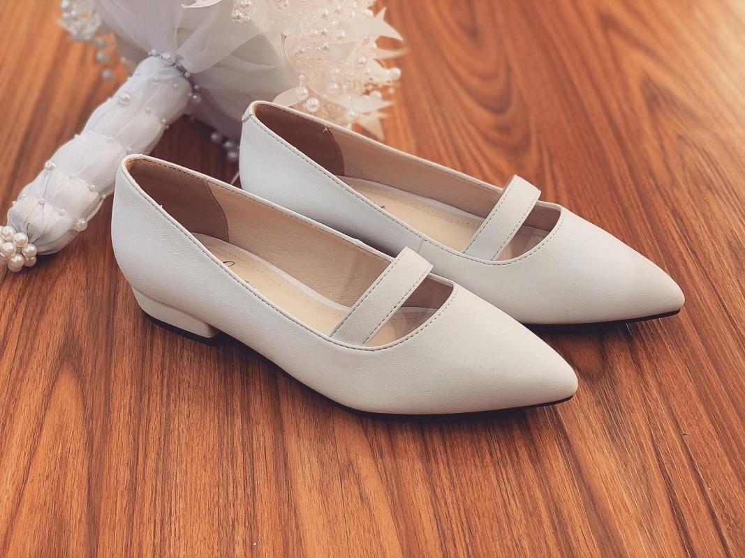 Giày cưới trơn bệt 164 - Ảnh 7 -  Nghé Art Bridal Shoes – 0908590288