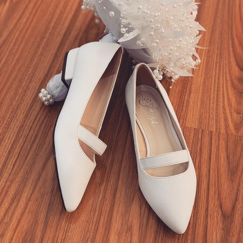 Giày cưới trơn bệt 164 - Ảnh 8 -  Nghé Art Bridal Shoes – 0908590288