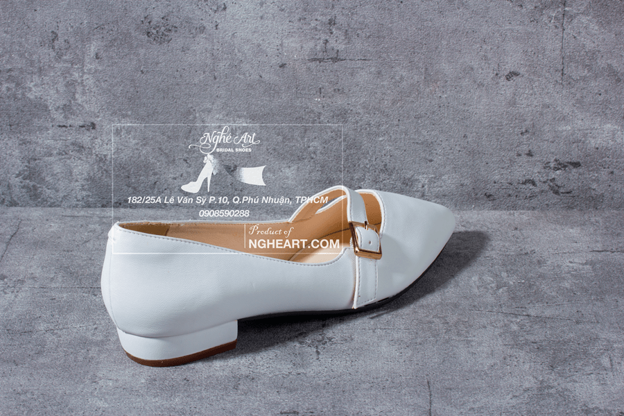Giày cưới trơn bệt 164 - Ảnh 1 -  Nghé Art Bridal Shoes – 0908590288