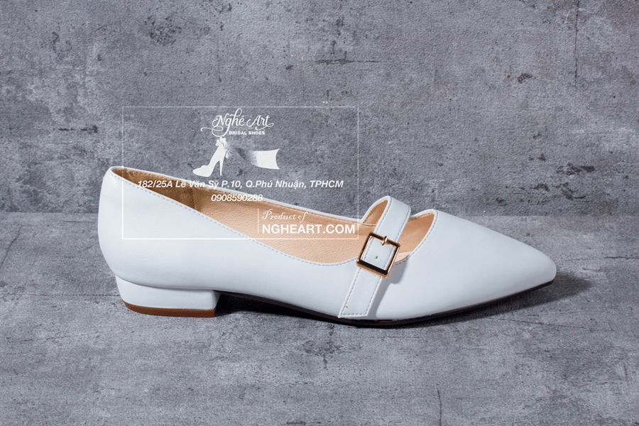 Giày cưới trơn bệt 164 - Ảnh 2 -  Nghé Art Bridal Shoes – 0908590288