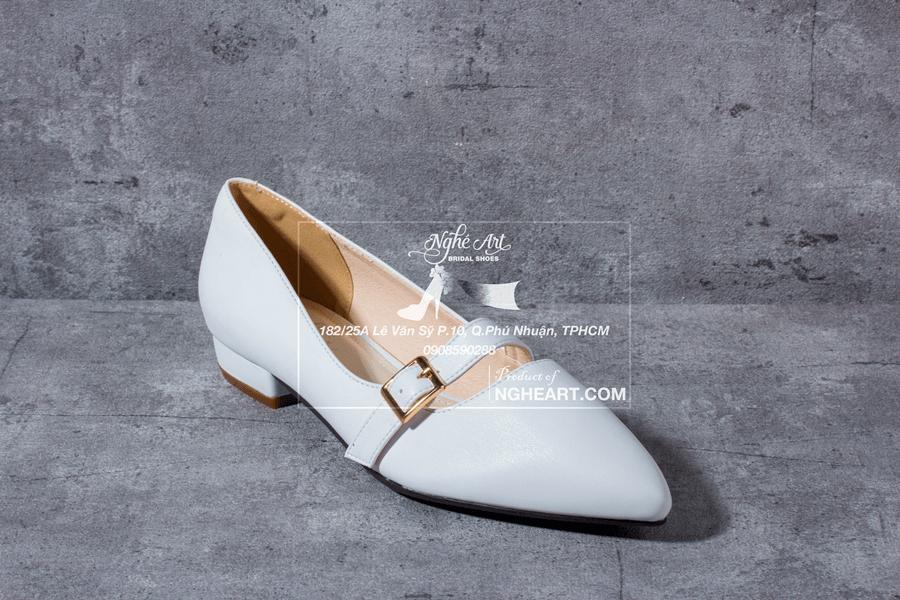 Giày cưới trơn bệt 164 - Ảnh 3 -  Nghé Art Bridal Shoes – 0908590288