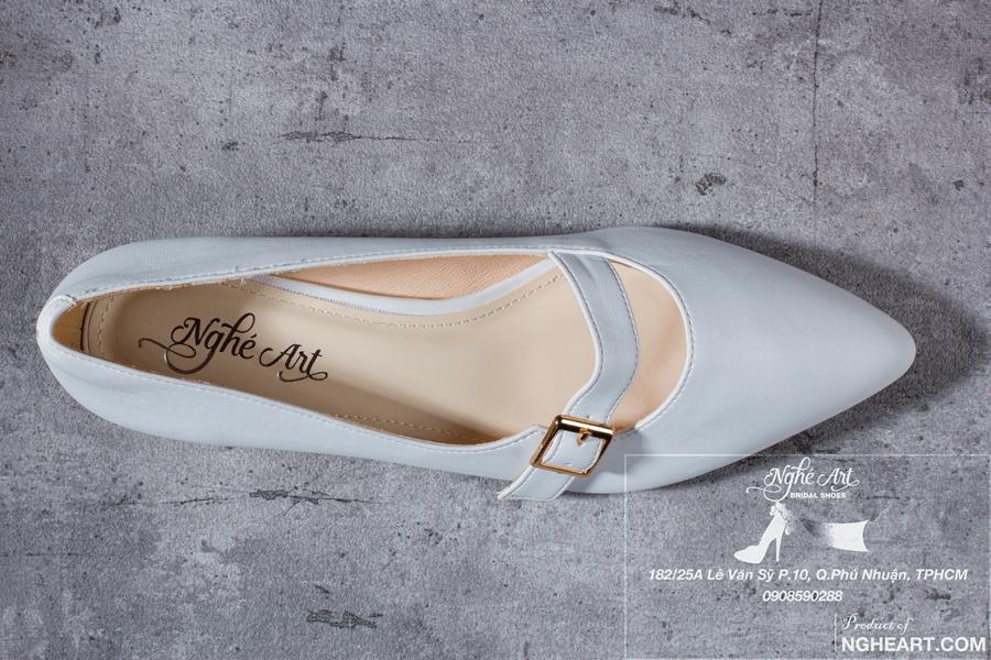 Giày cưới trơn bệt 164 - Ảnh 4 -  Nghé Art Bridal Shoes – 0908590288