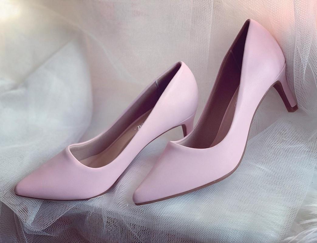 Giày cưới Nghé Art basic cao gót bít mũi màu hồng 247 - Ảnh 1 -  Nghé Art Bridal Shoes – 0908590288