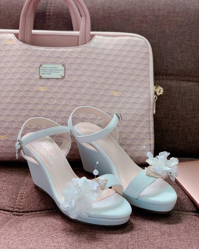 Giày cưới Nghé Art đế xuồng trắng 254 - Ảnh 3 -  Nghé Art Bridal Shoes – 0908590288