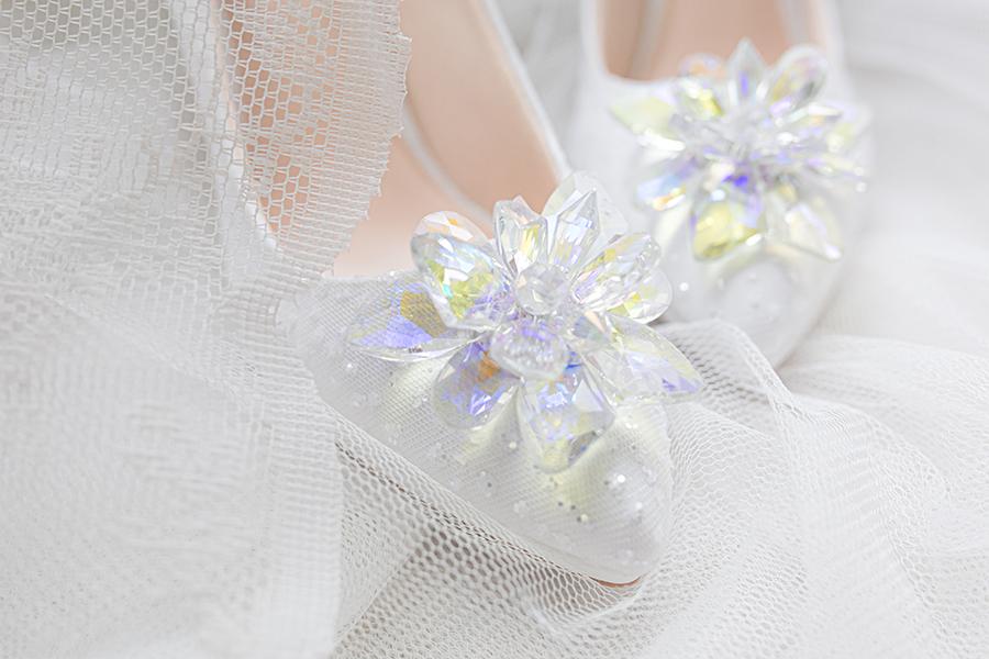 Giày cưới Nghé Art ren kim hoa đá 287 - Ảnh 3 -  Nghé Art Bridal Shoes – 0908590288