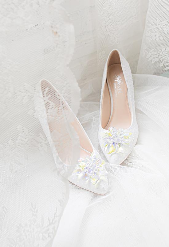 Giày cưới Nghé Art ren kim hoa đá 287 - Ảnh 5 -  Nghé Art Bridal Shoes – 0908590288
