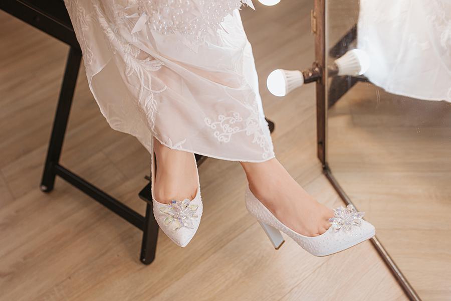 Giày cưới Nghé Art ren kim hoa đá 287 - Ảnh 7 -  Nghé Art Bridal Shoes – 0908590288