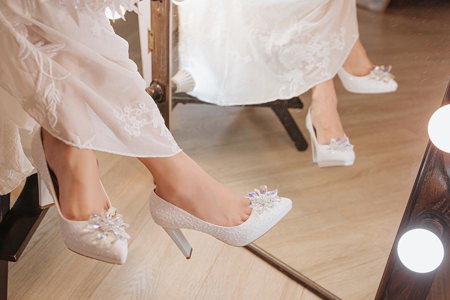 Giày cưới Nghé Art ren kim hoa đá 287 - Ảnh 8 -  Nghé Art Bridal Shoes – 0908590288