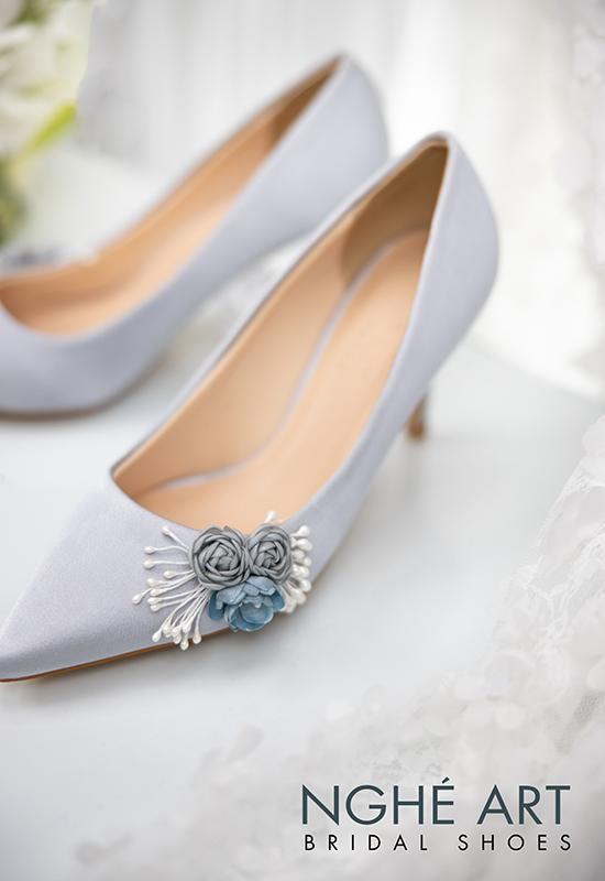 Giày cưới Nghé Art lụa satin hoa 316 - Ảnh 5 - Nghé Art Bridal Shoes – 0908590288