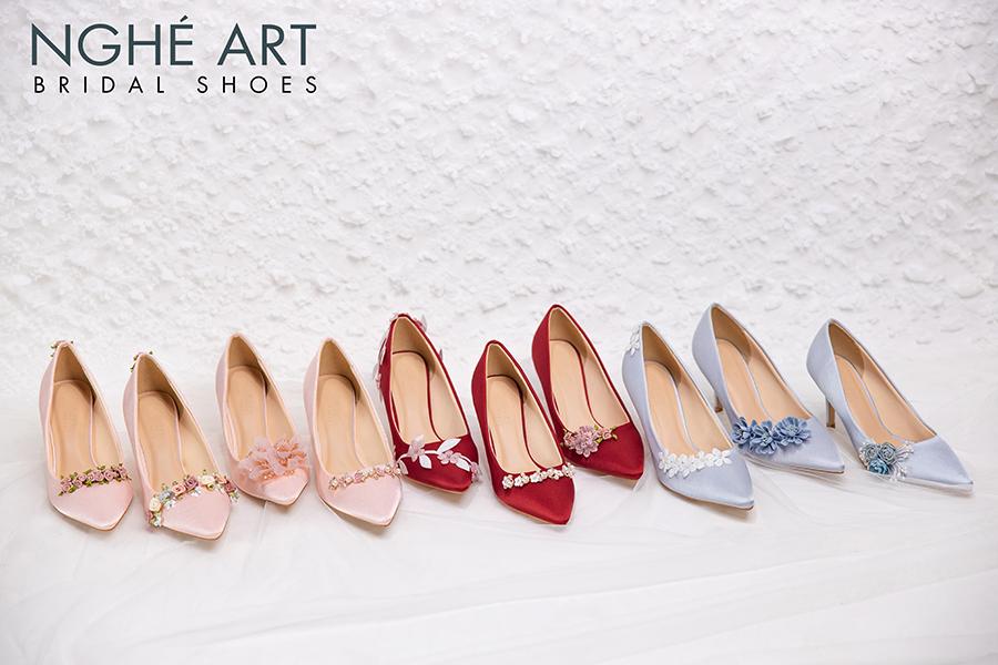 Trọn bộ sưu tập giày lụa satin nhà Nghé Art - Ảnh 1 -  Nghé Art Bridal Shoes – 0908590288