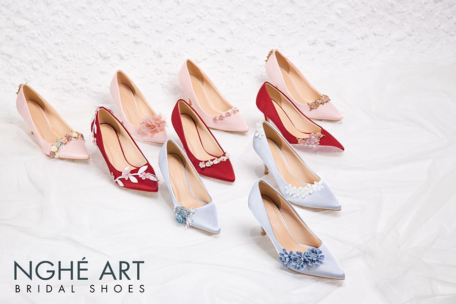 Trọn bộ sưu tập giày lụa satin nhà Nghé Art - Ảnh 2 -  Nghé Art Bridal Shoes – 0908590288