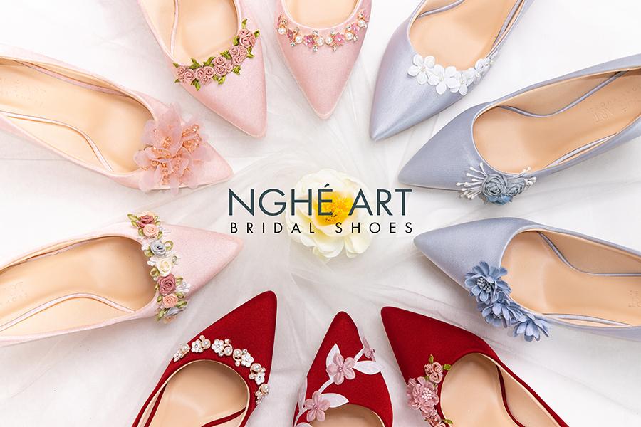 Trọn bộ sưu tập giày lụa satin nhà Nghé Art - Ảnh 4 -  Nghé Art Bridal Shoes – 0908590288