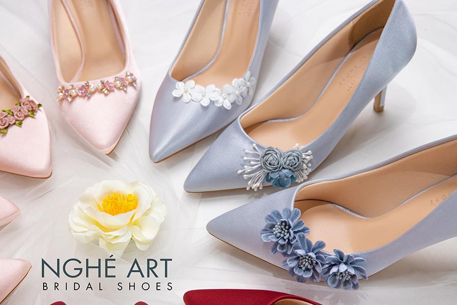 Trọn bộ sưu tập giày lụa satin nhà Nghé Art - Ảnh 5 -  Nghé Art Bridal Shoes – 0908590288