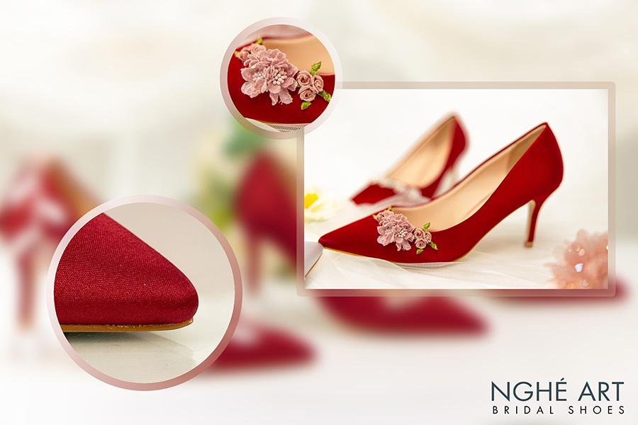 Trọn bộ sưu tập giày lụa satin nhà Nghé Art - Ảnh 7 -  Nghé Art Bridal Shoes – 0908590288