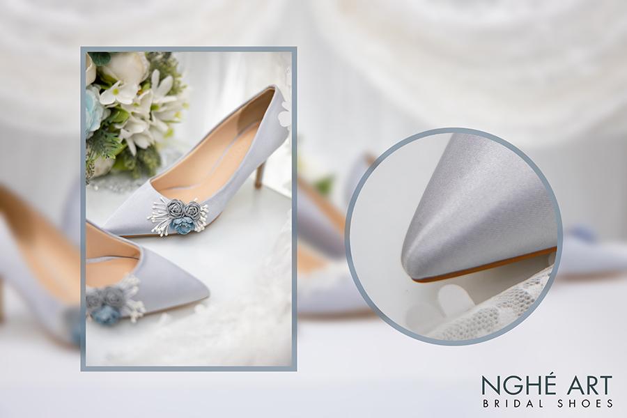 Trọn bộ sưu tập giày lụa satin nhà Nghé Art - Ảnh 9 -  Nghé Art Bridal Shoes – 0908590288