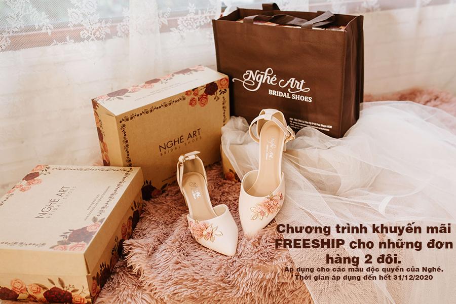 Khuyến mãi FREESHIP - Ảnh freeship-  Nghé Art Bridal Shoes – 0908590288